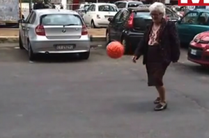Football-grandmother