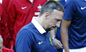France midfielder Franck Ribéry has been ruled out of the World Cup. Photograph: Charles Platiau/Reuters